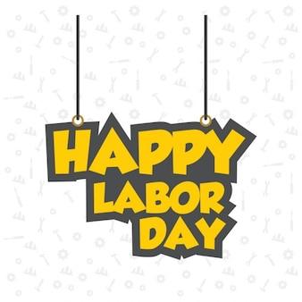 Hängende labor day typographie