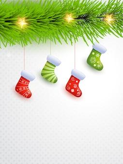 Hängende weihnachtssocken