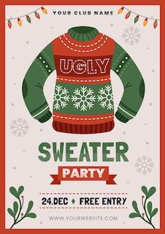 Hässliche pullover party einladungsvorlage