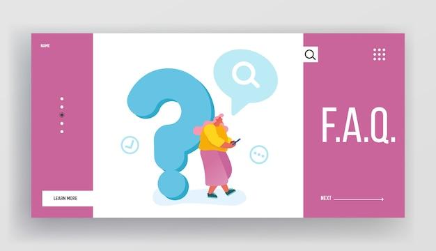 Häufig gestellte fragen, landing page der faq-website