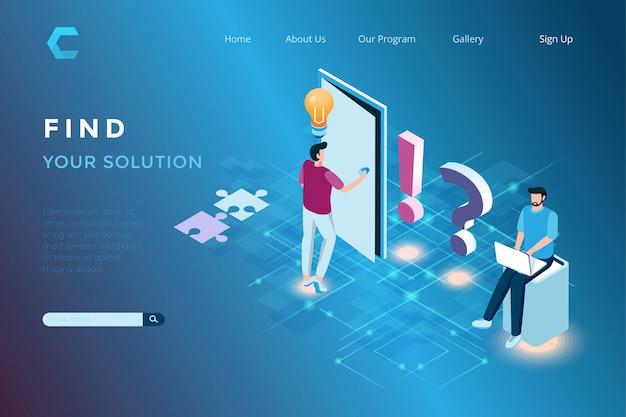 Häufig gestellte fragen zur illustration bei der bereitstellung von lösungen für kunden im isometrischen 3d-stil
