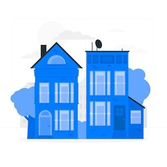 Häuser konzept illustration