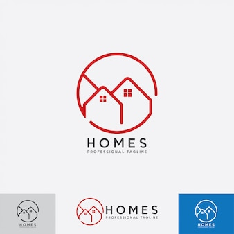 Häuser logo design vektor