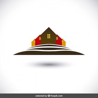 Häuser silhouetten logo