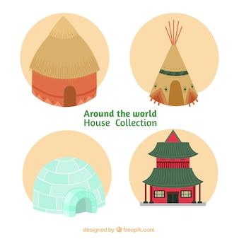 Häuser von diferent kulturen