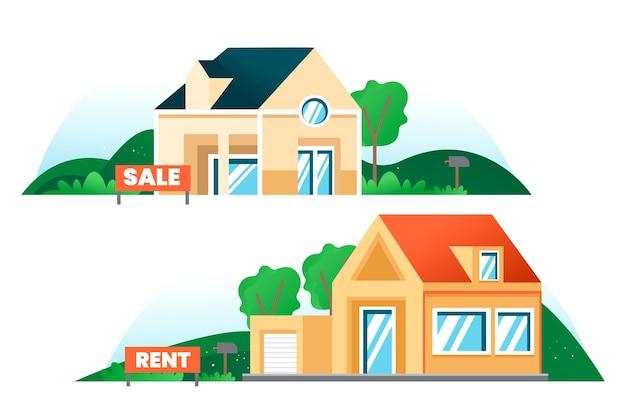 Häuser zum verkauf und zur miete eingestellt