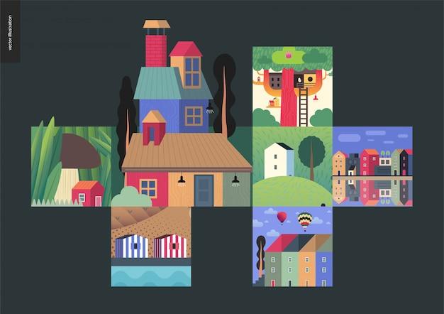 Häuser zusammensetzung