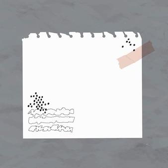 Haftnotiz-vektorweißbuchelement im memphis-stil