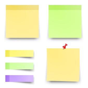 Haftnotizen aus papier