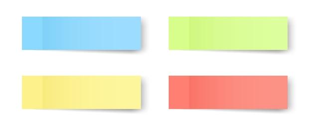 Haftnotizen, erinnerungen, lesezeichen, notizen auf papier.