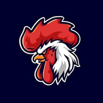 Hahn-sport-maskottchen-logo-illustration