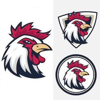 Hahn-vektor-abzeichen-logo