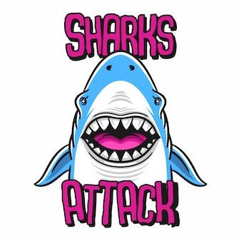 Hai-angriffsillustration