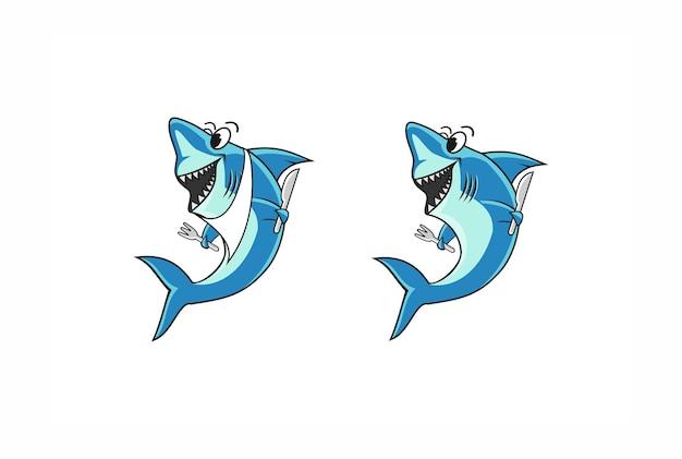 Hai-diner-maskottchen