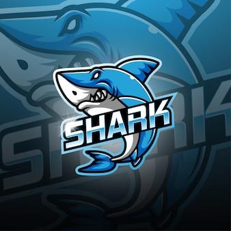 Hai esport maskottchen logo