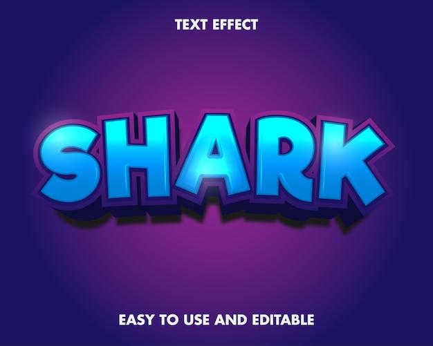 Hai-texteffekt. bearbeitbarer schrifteffekt.