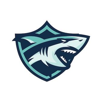Hai - vektor-logo / symbol illustration maskottchen