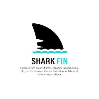 Haifischflosse-symbol. achten sie auf das konzept. vektor auf weißem hintergrund isoliert. eps 10.