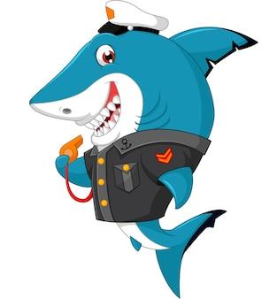 Haifischkarikaturillustration