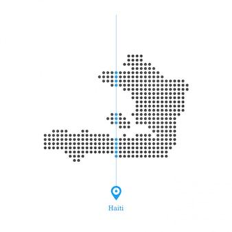 Haiti verfluchte kartenentwurfsvektor