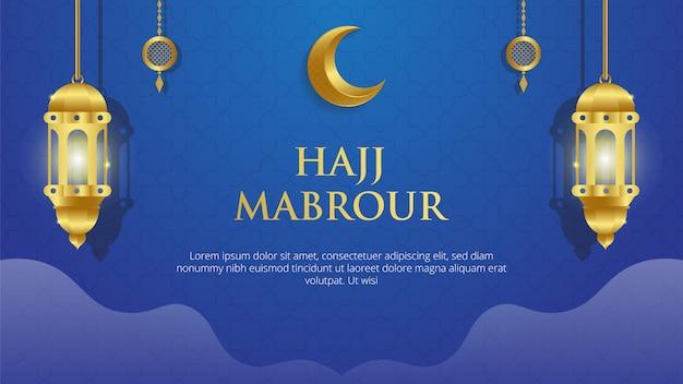 Hajj mabrour islamischer hintergrund