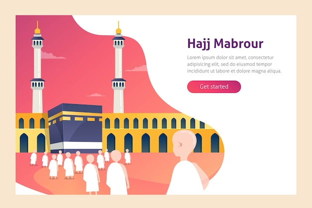 Hajj und umrah-vektor-illustration