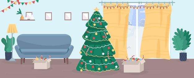 Halbhausillustration des weihnachtshauses
