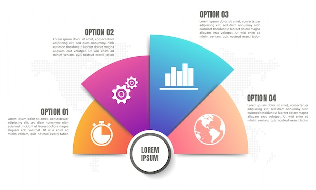 Halbkreisdiagramm infografik