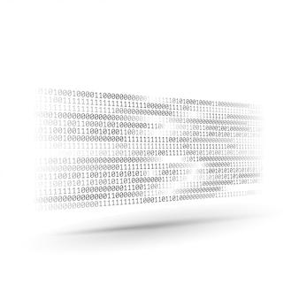 Halbton-binärcode. informations- und datenstrom. abstrakter computertechnologie-hintergrund. dynamische elemente für das design. codierung, programmierung, softwareentwicklung.