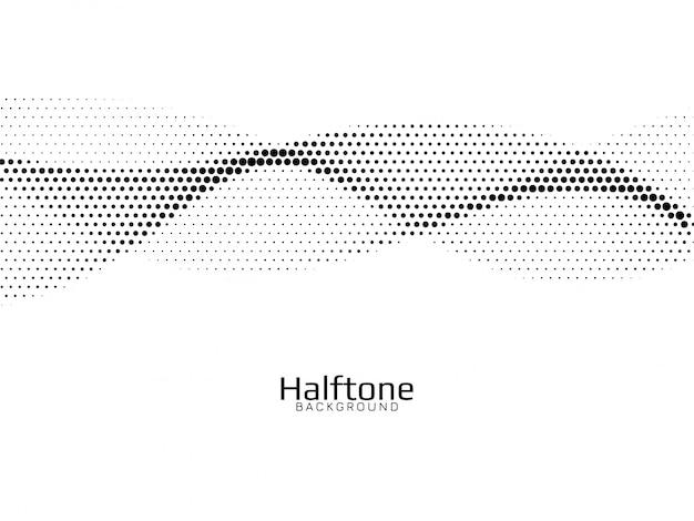 Halbton-designhintergrund im wellenstil