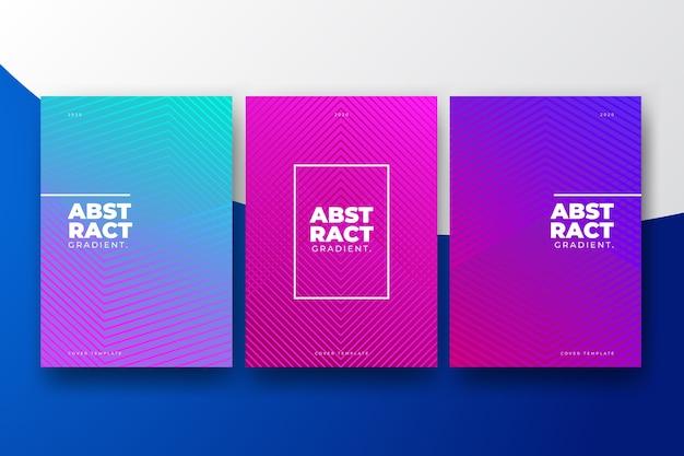 Halbton-farbverlaufsthema der cover-sammlung