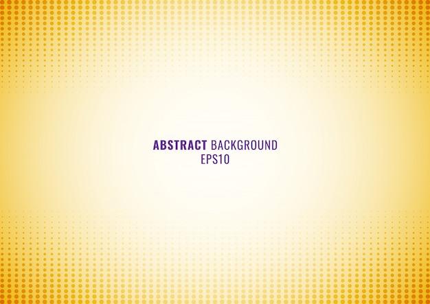 Halbton gelber hintergrund des abstrakten punktmusters