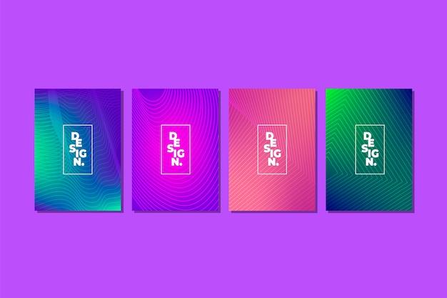 Halbton-gradienten cover collection-konzept