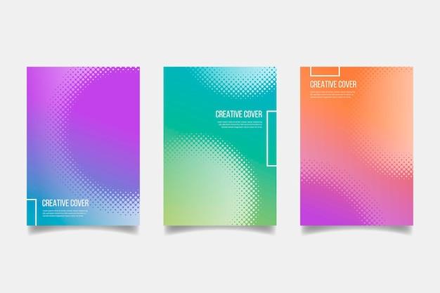 Halbton-gradienten-cover-collection-konzept