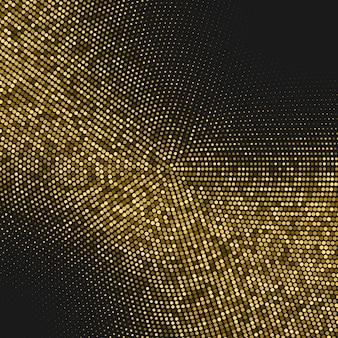 Halbton hintergrund mit glitzer gold