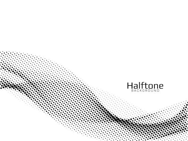 Halbton-hintergrundvektor der abstrakten wellenart