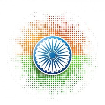 Halbton patch indische flagge stil
