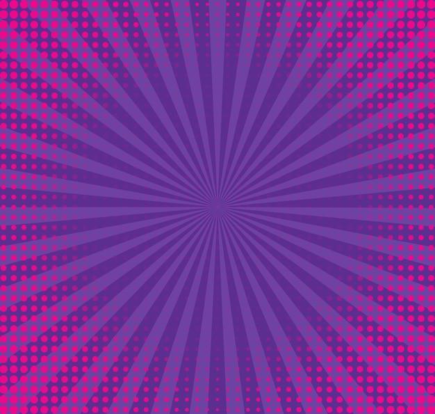 Halbton-pop-art-hintergrund. komisches violettes muster. vektor-illustration.