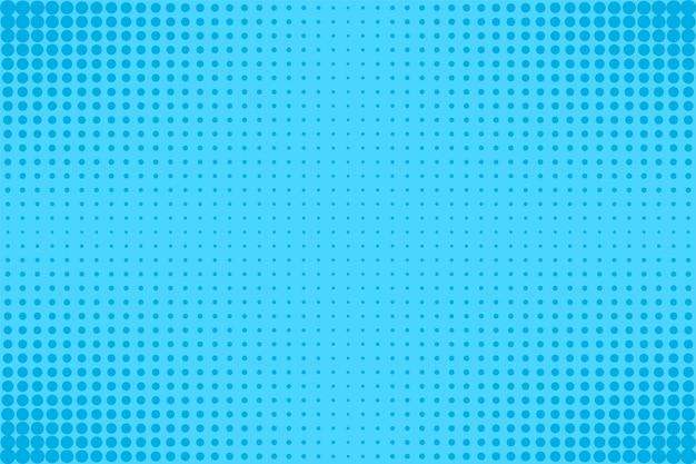 Halbton-pop-art-muster. komischer blauer hintergrund. vektor-illustration.