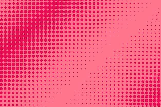 Halbton-pop-art-muster. komischer roter druck. vektor-illustration.