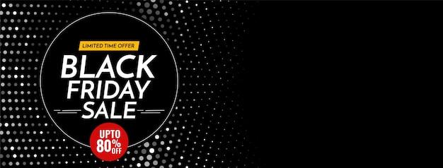 Halbtonmuster black friday sale bieten dunkles banner