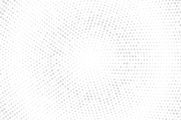 Halbtonpunkte auf weißem hintergrund. halbton-textur der grauen punkte.