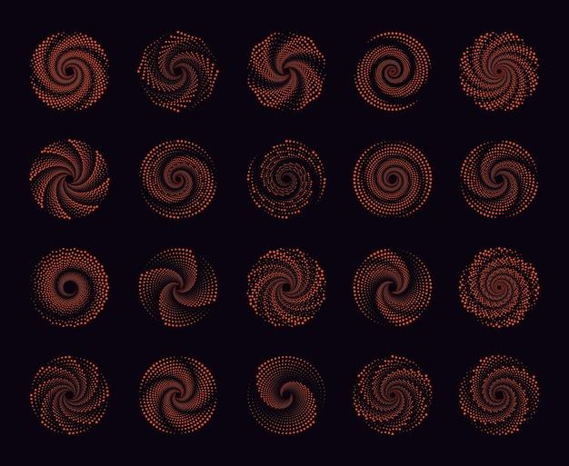 Halbtonpunkte in kreisform design spiralpunkte hintergrund