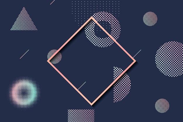 Halbtonrahmen mit geometrischer form