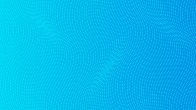 Halbtonverlaufshintergrund mit punkten. abstraktes blau gepunktetes pop-art-muster im comic-stil. vektor-illustration