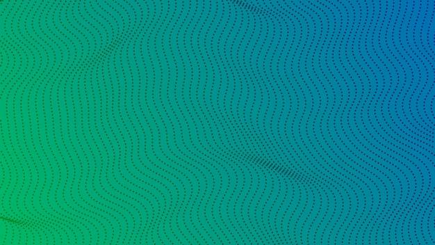 Halbtonverlaufshintergrund mit punkten. abstraktes grün gepunktetes pop-art-muster im comic-stil. vektor-illustration