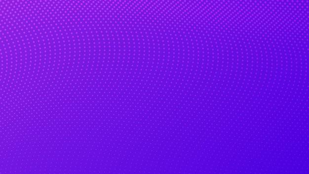 Halbtonverlaufshintergrund mit punkten. abstraktes lila gepunktetes pop-art-muster im comic-stil. vektor-illustration