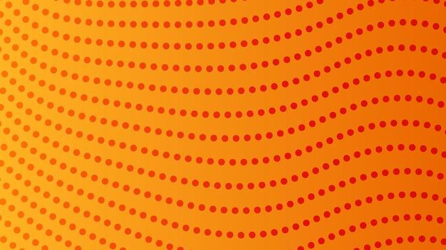 Halbtonverlaufshintergrund mit punkten. abstraktes orange gepunktetes pop-art-muster im comic-stil. vektor-illustration