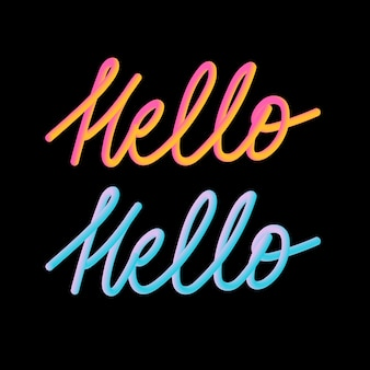 Hallo 3d slogan moderner fashion slogan für t-shirt