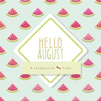 Hallo august banner vorlage
